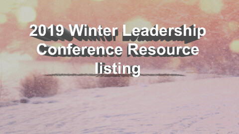 2019 Leadership Conference Resources